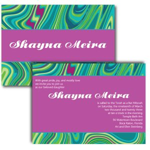 Groovy Bat Mitzvah Invitation Icon