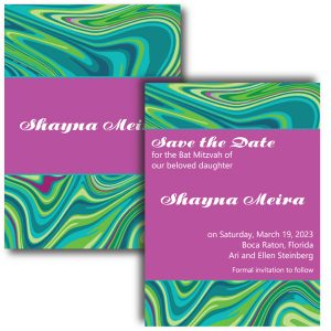 So Groovy Save Date Card