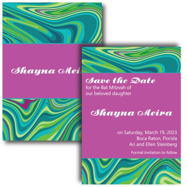 Groovy Save Date Card