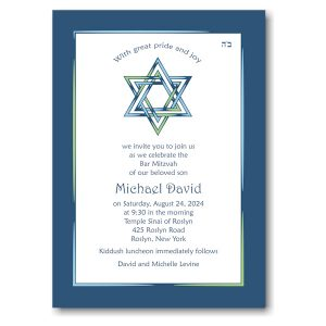 Star of the Show Bar Mitzvah Invitation Sample