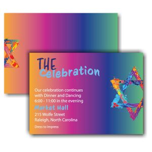 Graffiti Splash Rainbow Reception Card