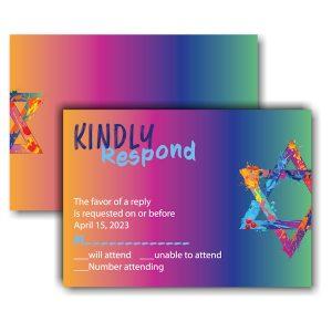 Graffiti Splash Rainbow Response Card