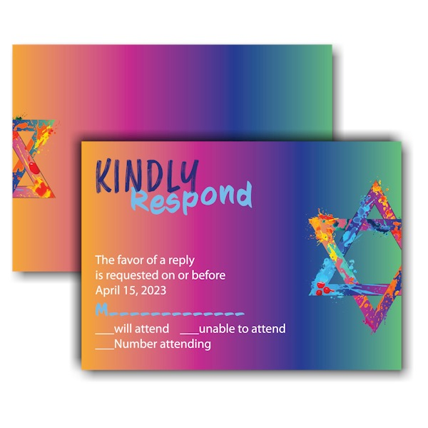 Graffiti Splash Rainbow Response Card