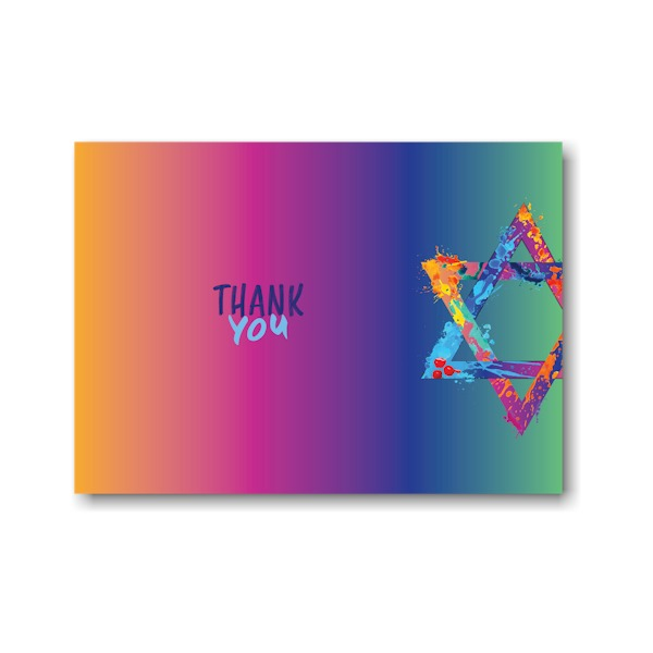 Graffiti Splash Thank You Note