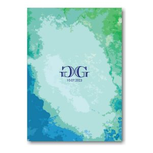 Modern Watercolor Bar Mitzvah Invitation Backside
