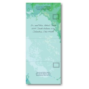 Modern Watercolor Seal and Send Bar Mitzvah Invitation Outside