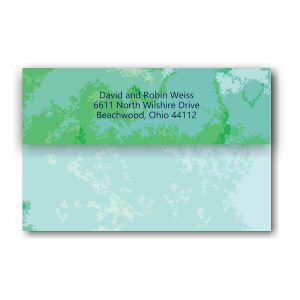 Modern Watercolor Seal and Send Bar Mitzvah Invitation folded backside