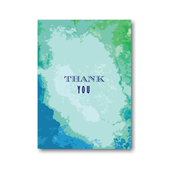 Modern Watercolor Thank You Note