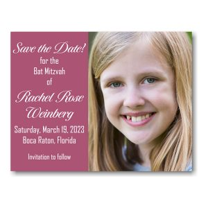 Rachel Rose Photo Save Date Magnet