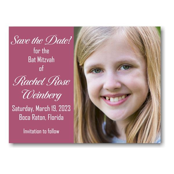 Rachel Rose Photo Save Date Magnet