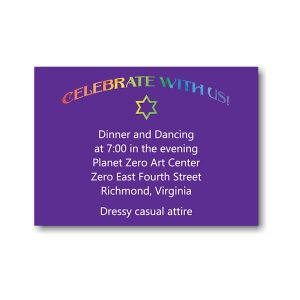 Rainbow Style Reception Card
