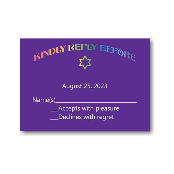 Rainbow Style Response Card
