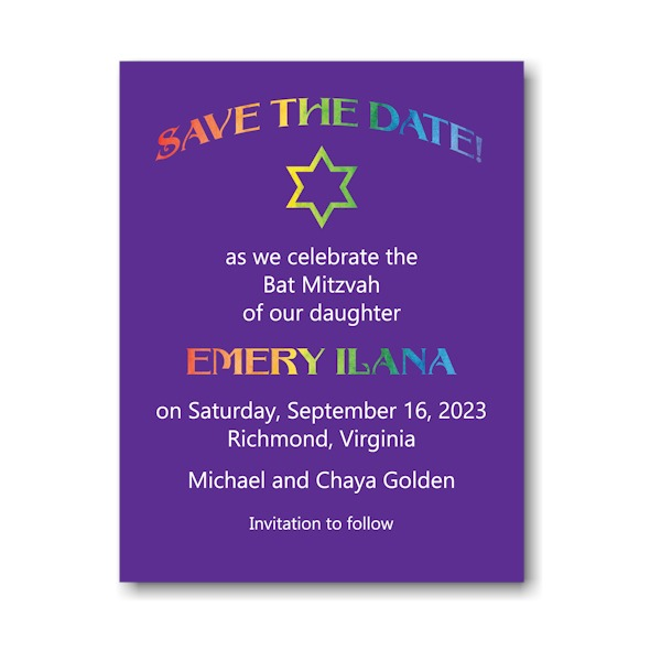 Rainbow Style Save Date Magnet