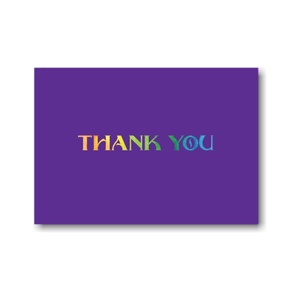Rainbow Style Thank You Note