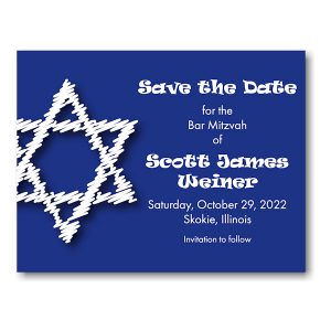 Artistic Star Save the Date Magnet Sample