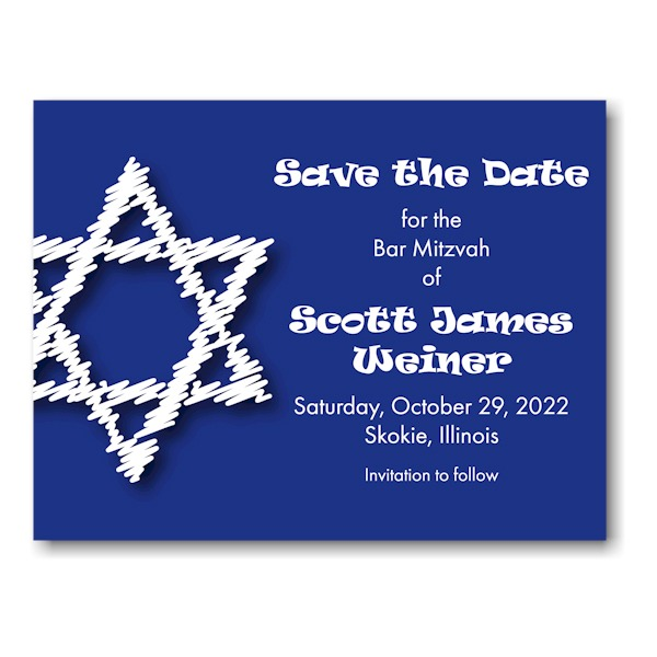 Artistic Star Save Date Magnet Icon