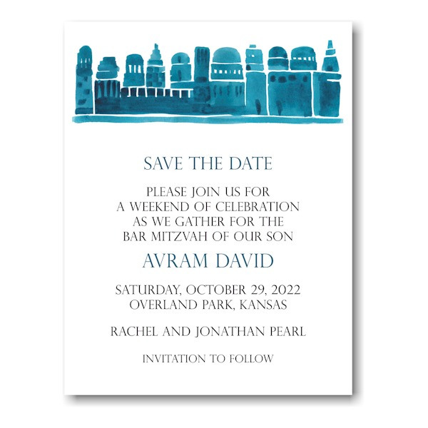 Avram David Save the Date Magnet