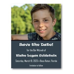 Blake Logan Photo Save Date Magnet Sample
