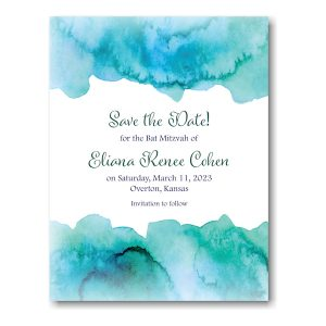 Elaina in Blue Save the Date Magnet Sample