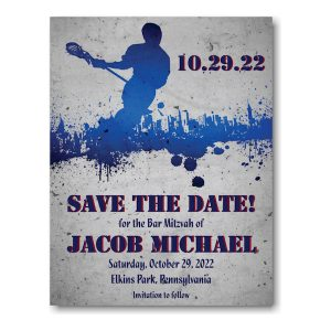 Lacrosse Save Date Magnet Sample