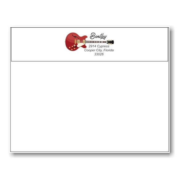 Red Guitar Save My Date Envelope Flap