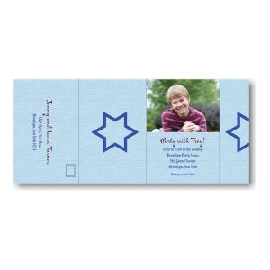 Simcha All in One Photo Bar Mitzvah Invitation Outside