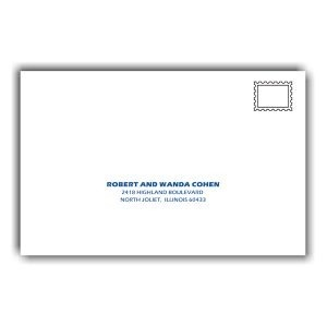 Snowboarding Guest Addressing Envelope