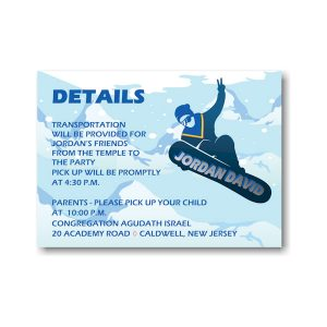 Snowboarding Reception Card