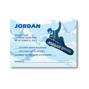 Snowboarding Response Card