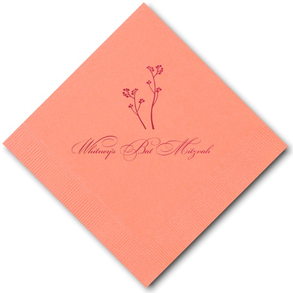 Light Coral Cocktail Napkin