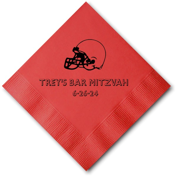 Red Cocktail Napkin