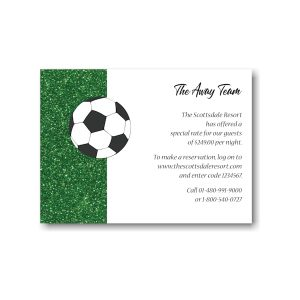 For Kicks Soccer Accommodations Card