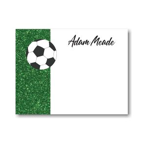For Kicks Soccer Note Card