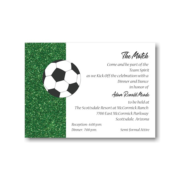 For Kicks Soccer Reception Card