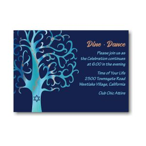 Modern Tree Reception Card