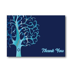 Modern Tree Thank You Note