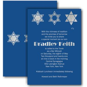 Classic Blue Bar Mitzvah Invitation Icon