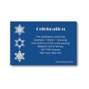 Classic Blue Reception Card