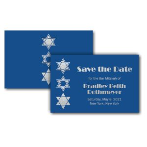 Classic Blue Save the Date Card Icon