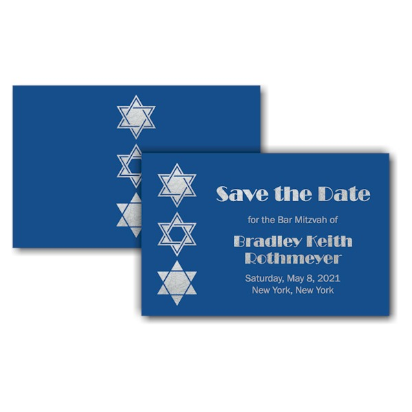 Classic Blue Save the Date Card Sample