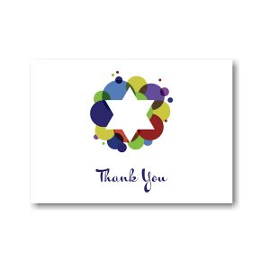 Festive Star Thank You Note