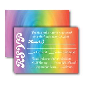 Rainbow Swirl Response Card