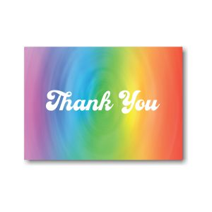Rainbow Swirl Thank You Note