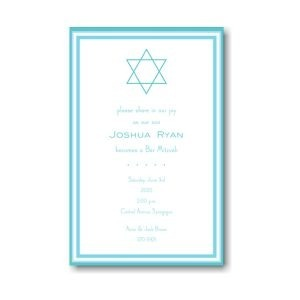 Bar Mitzvah Blue Bar Mitzvah Invitation Icon