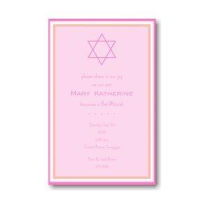 Bat Mitzvah Pink Bat Mitzvah Invitation