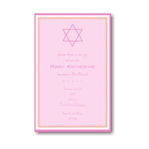 Bat Mitzvah Pink Bat Mitzvah Invitation Icon