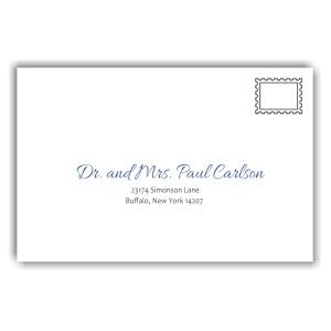 Initially Yours Bar Mitzvah Guest Addressing Envelope