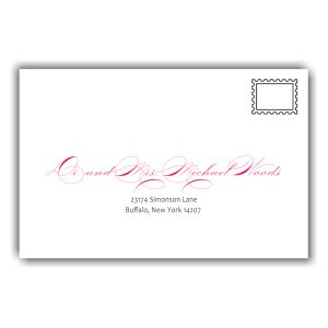 Initially Yours Bat Mitzvah Envelope Guest Addressing