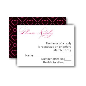 Initially Yours Bat Mitzvah Response Card