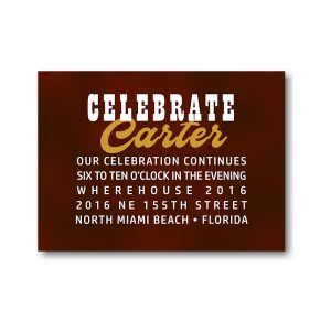Boldly Stated Reception Card